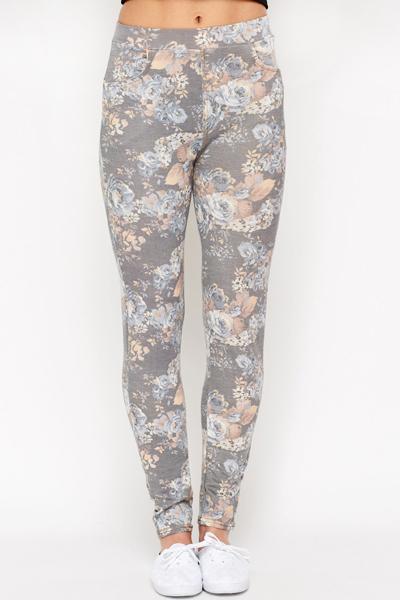 1ebb8017a7cd Flower Print Leggings - Just £5