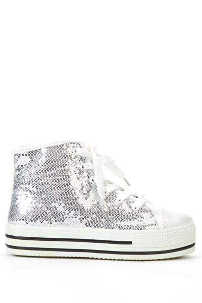 High Top Sequined Sneakers