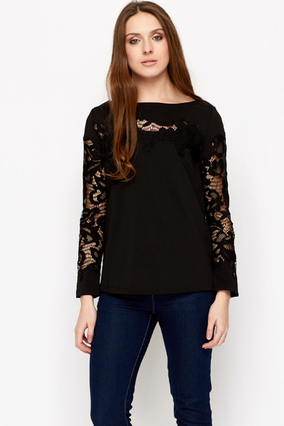Lace Insert Top