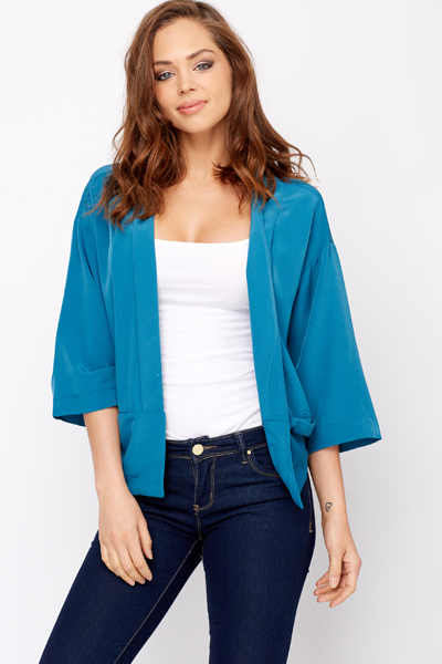 Silky Feel Open Front Cardigan