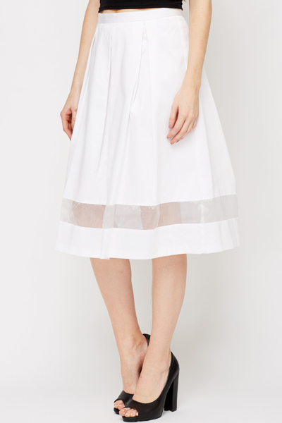 Mesh Insert Full Skirt