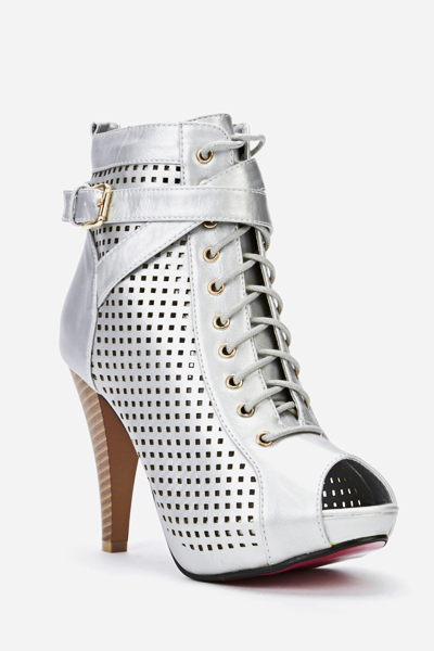 Perforated Open Toe Boots