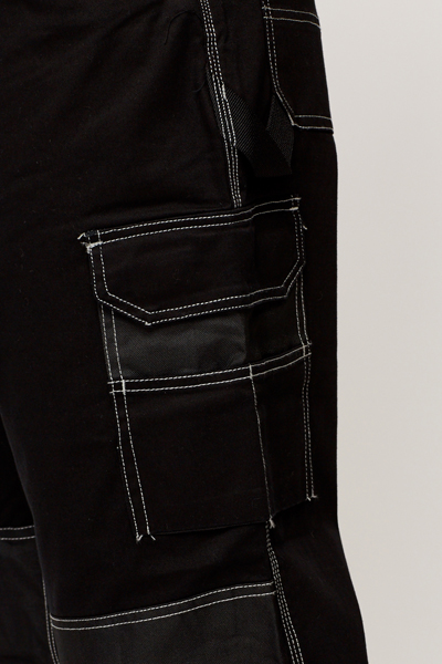 Men Contrast Trim Trousers