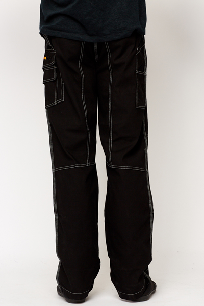 Pocket Side Black Trousers