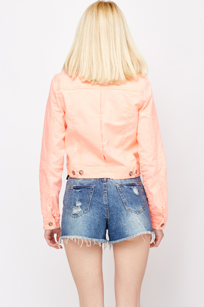 Coloured Denim Jacket
