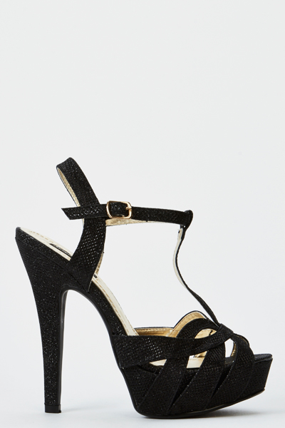 Cut Out Lurex Heels
