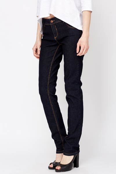 Skinny Leg Denim Trousers