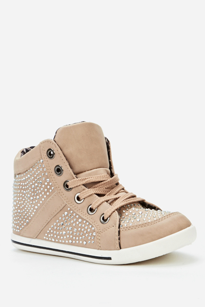 Studded High Top Trainers