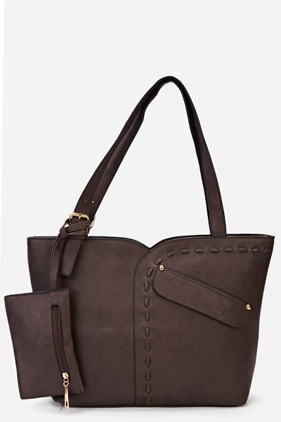 Zip Pocket Side Handbag