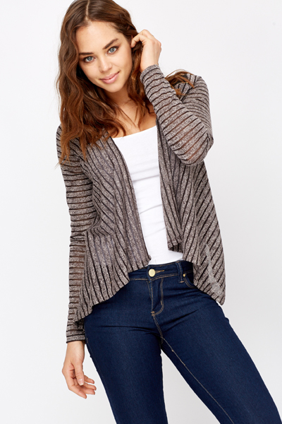 Waterfull Striped Cardigan