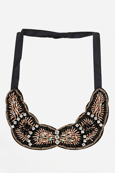 Scallop Embellished Collar Necklace