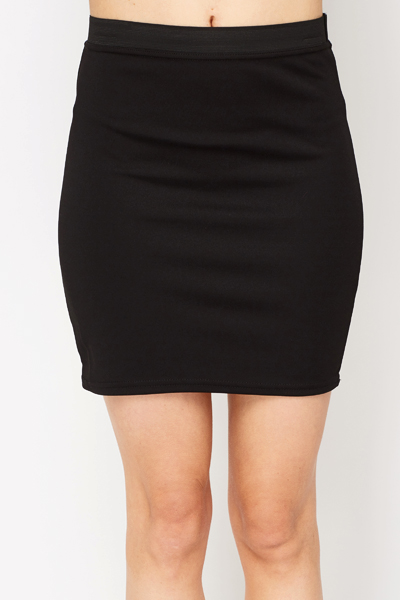Contrast Waist Mini Skirt