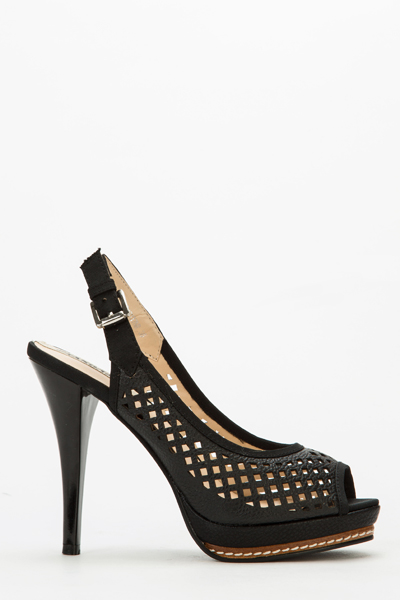 Cut Out Sling Back Heels