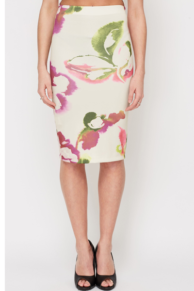 Floral Print Pencil Skirt - Just £5
