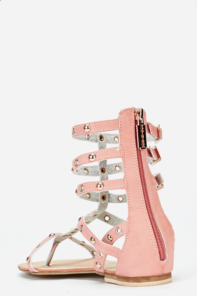 Studded High Gladiator Sandals