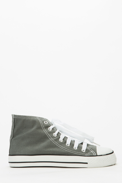 High Top Canvas Trainers