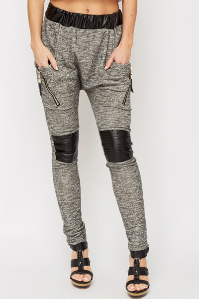 Contrast Zipped Joggers