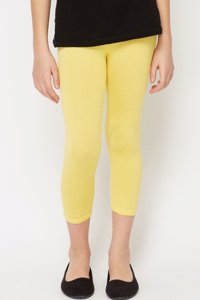 Girls Yellow Leggings