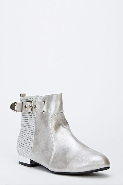Encrusted Shimmer Ankle Boots