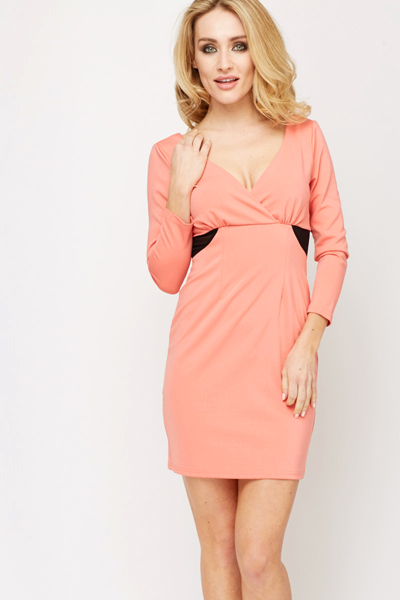 Low Cut Bodycon Dress