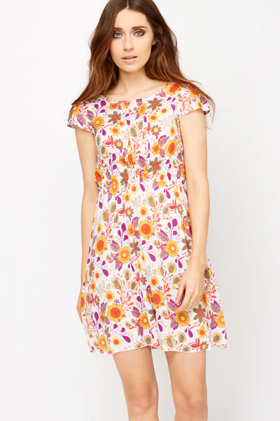 Pleated Front Summer Dress