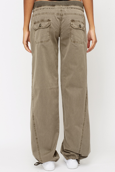 Cotton Drawstring Trousers