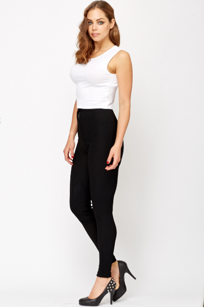 High waist Ribbed Treggings