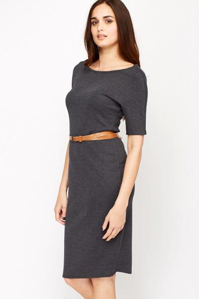 c54c625a75d8 Dark Grey Bodycon Midi Dress - Just £5