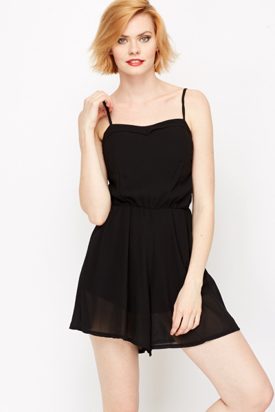 Sheer Lined Playsuit