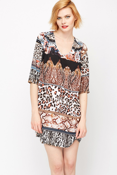 Animal Print Beach Dress