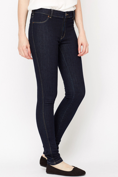 Classic Dark Blue Denim Jeans