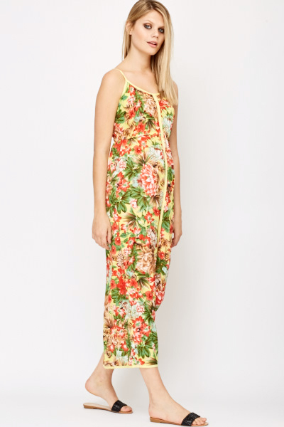 Light Weight Floral Print Maxi Dress