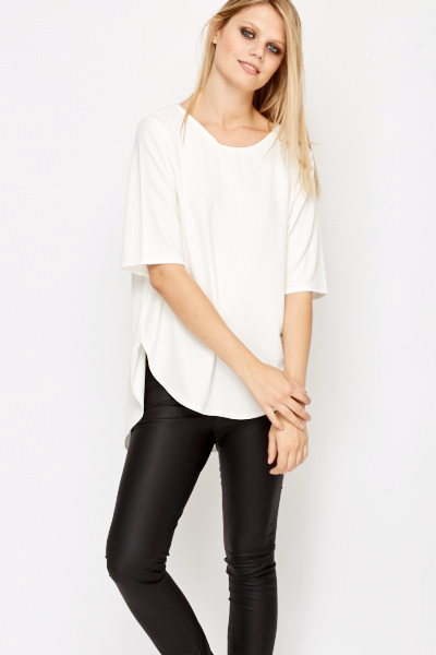 Back Dip Hem Top