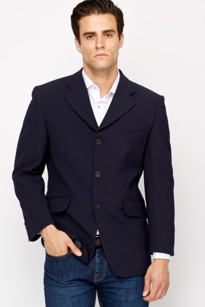Button Up Wool Blend Jacket
