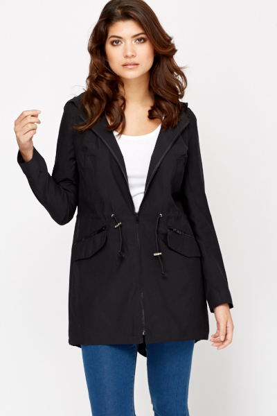 Hooded Black Jacket