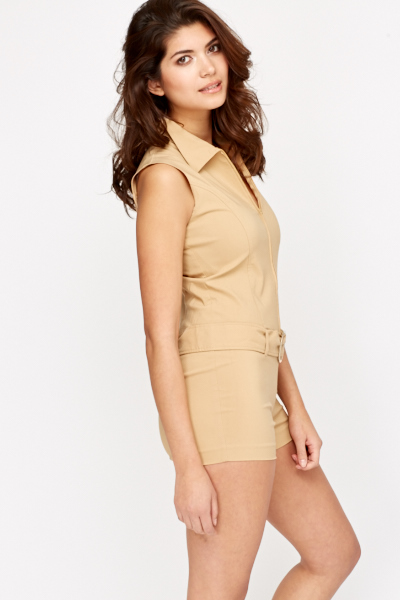 Zip Front Playsuit