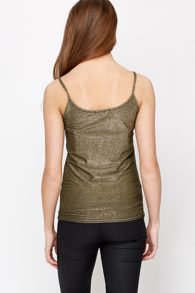 Metallic Vest Top