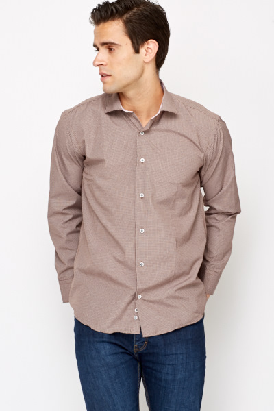 Brown Checked Shirt