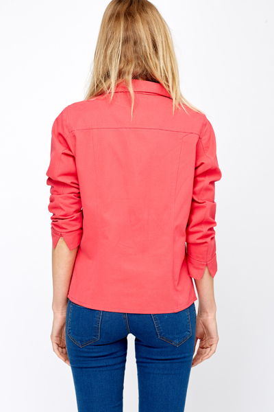 Diamanté Studded Pocket Casual Jacket