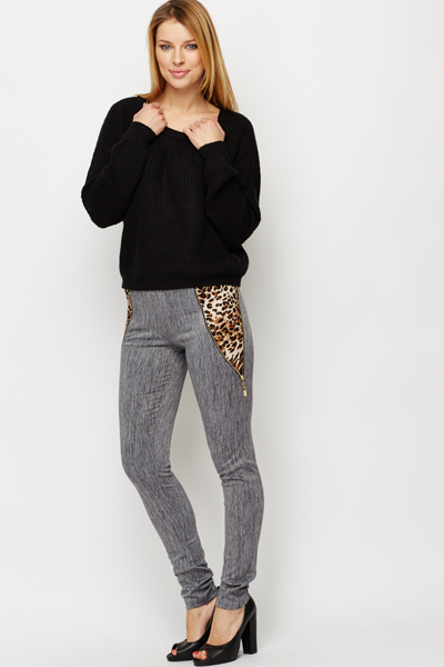 Animal Print Insert Treggings