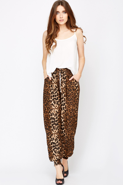 Animal Print Leisure Trousers