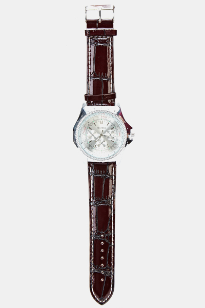 Chronograph Men Fux Leather Watch