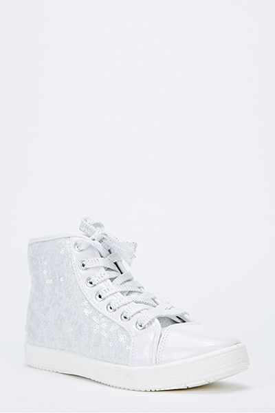 Sequin Hi-Top Trainers