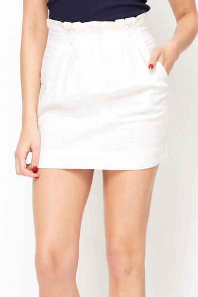 Cream Pleated Skirt 103