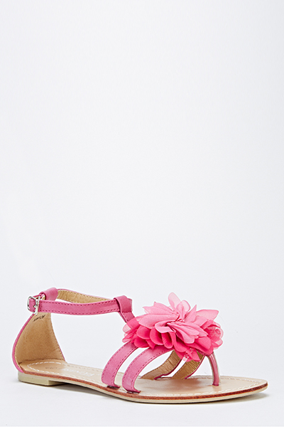 Floral Front Strappy Sandals