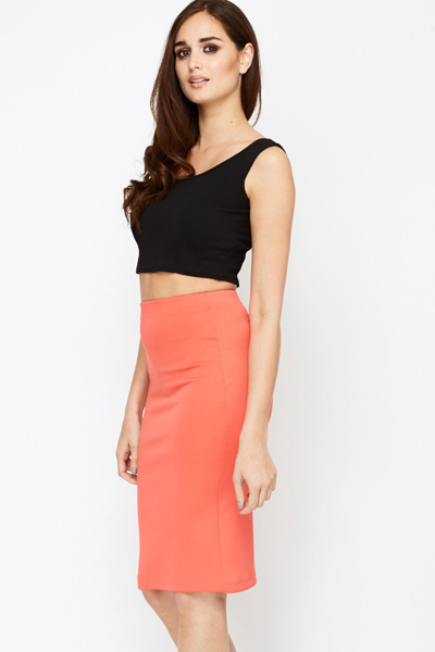 Maxou Coral Pencil Skirt