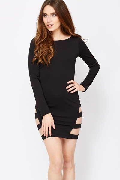 Cut Out Sides Bodycon Dress