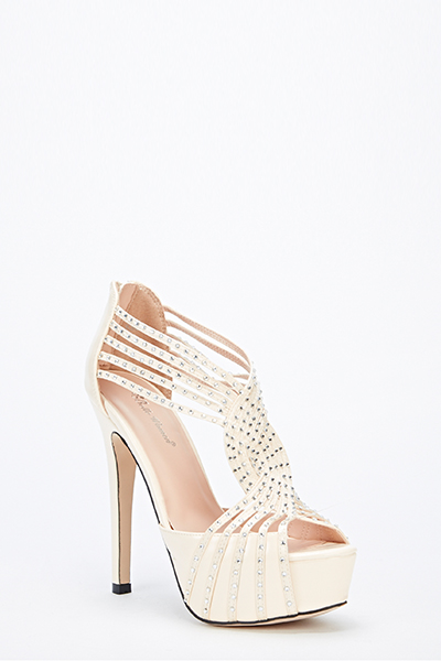 Diamante Strappy Heels