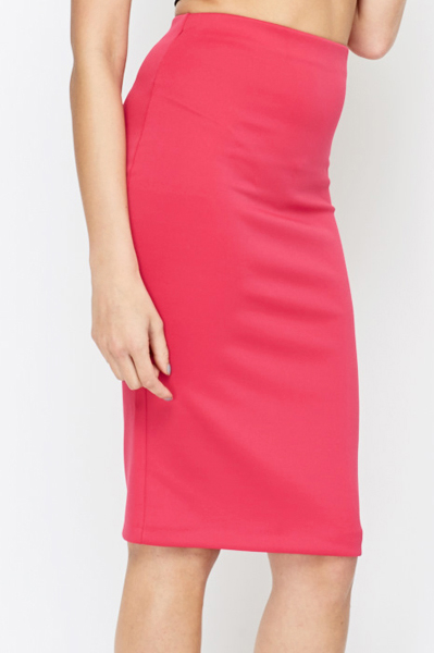 Maxou Hot Pink Bodycon Skirt
