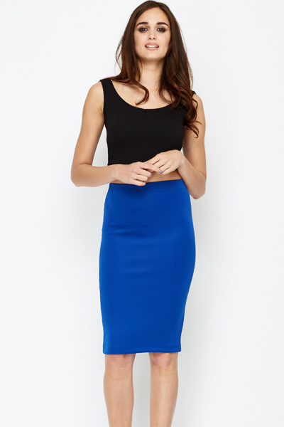 highly coveted range of incredible prices running shoes Maxou Royal Blue Pencil Skirt